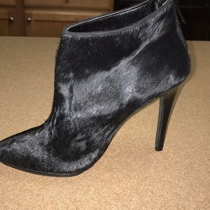 Express Calf Hair Ankle Boots